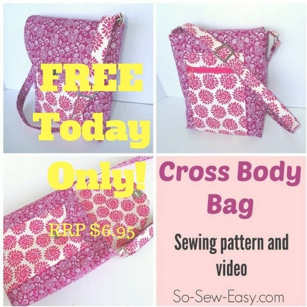 Surprise! Cross Body Bag Pattern FREE Today Only (RRP $6.95 | Pinterest