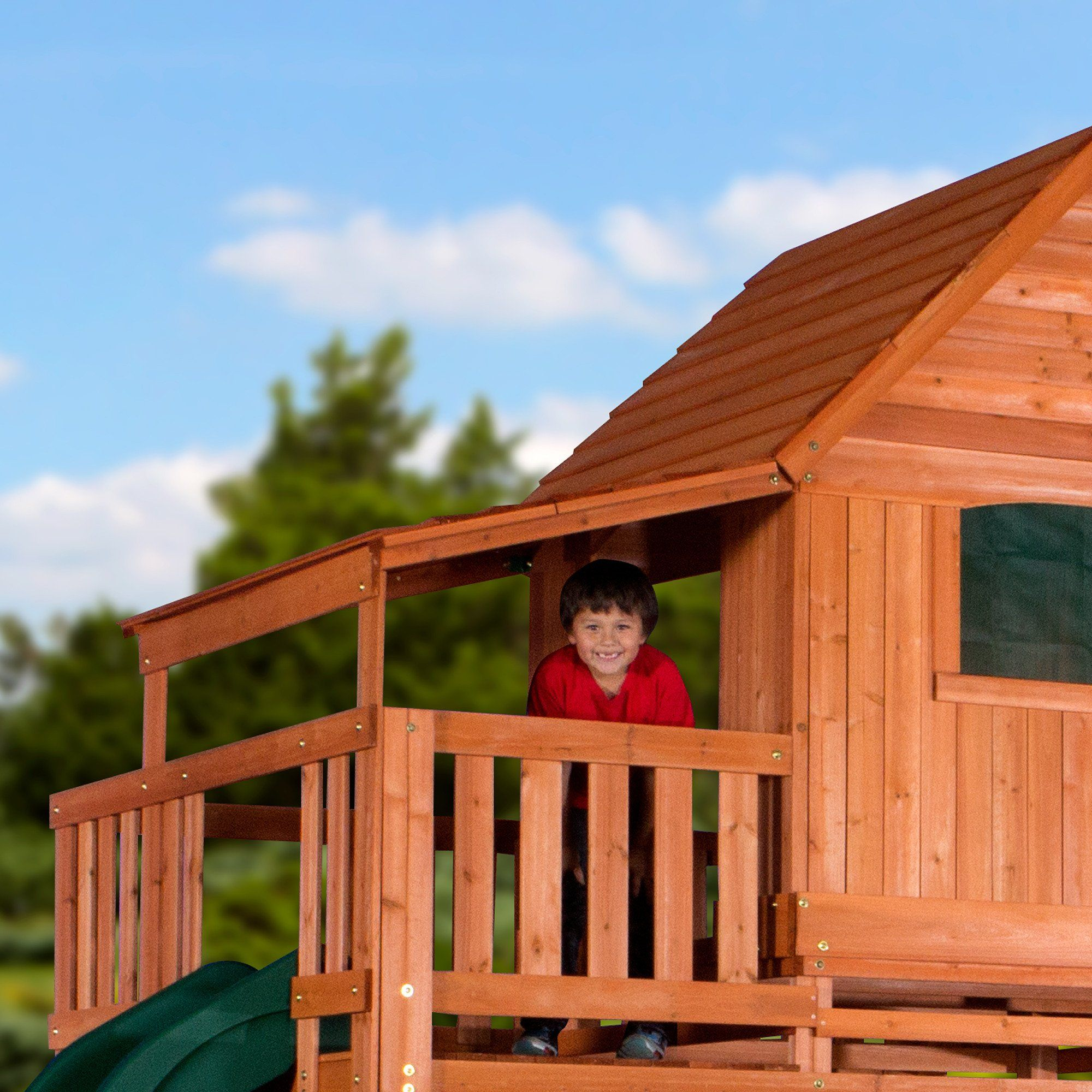 woodridge ii wooden swing set side porch wooden swings and