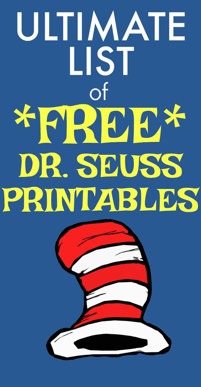 FREE DR SEUSS PRINTABLES: HUGE LIST!