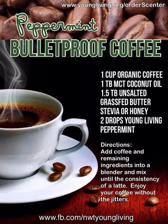 Peppermint bullet proof coffee