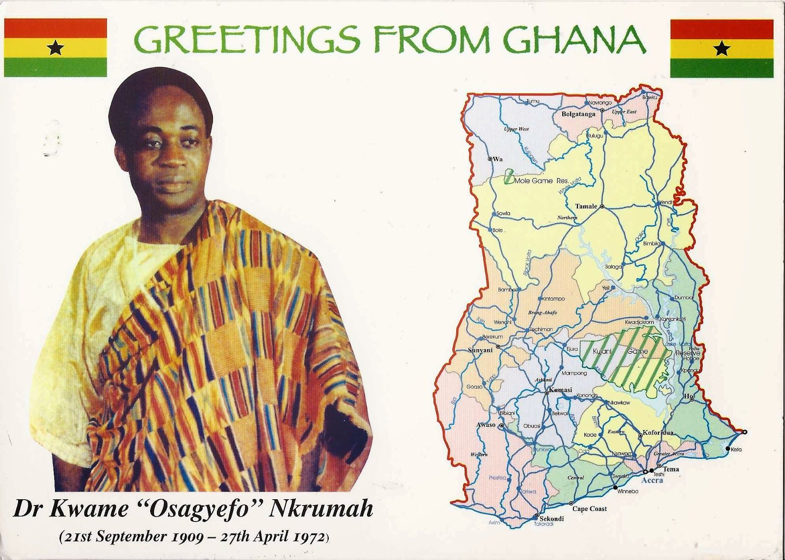 A Journey Of Postcards Ghana West Guinean Akan Pinterest As