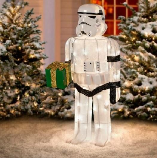 CLEARANCE Outdoor Lighted STAR WARS STORM TROOPER SCULPTURE