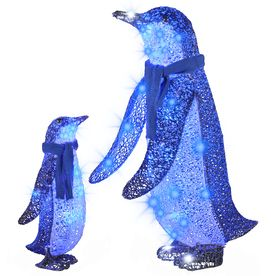 gemmy lighted penguin outdoor christmas decoration with blue constant led lights