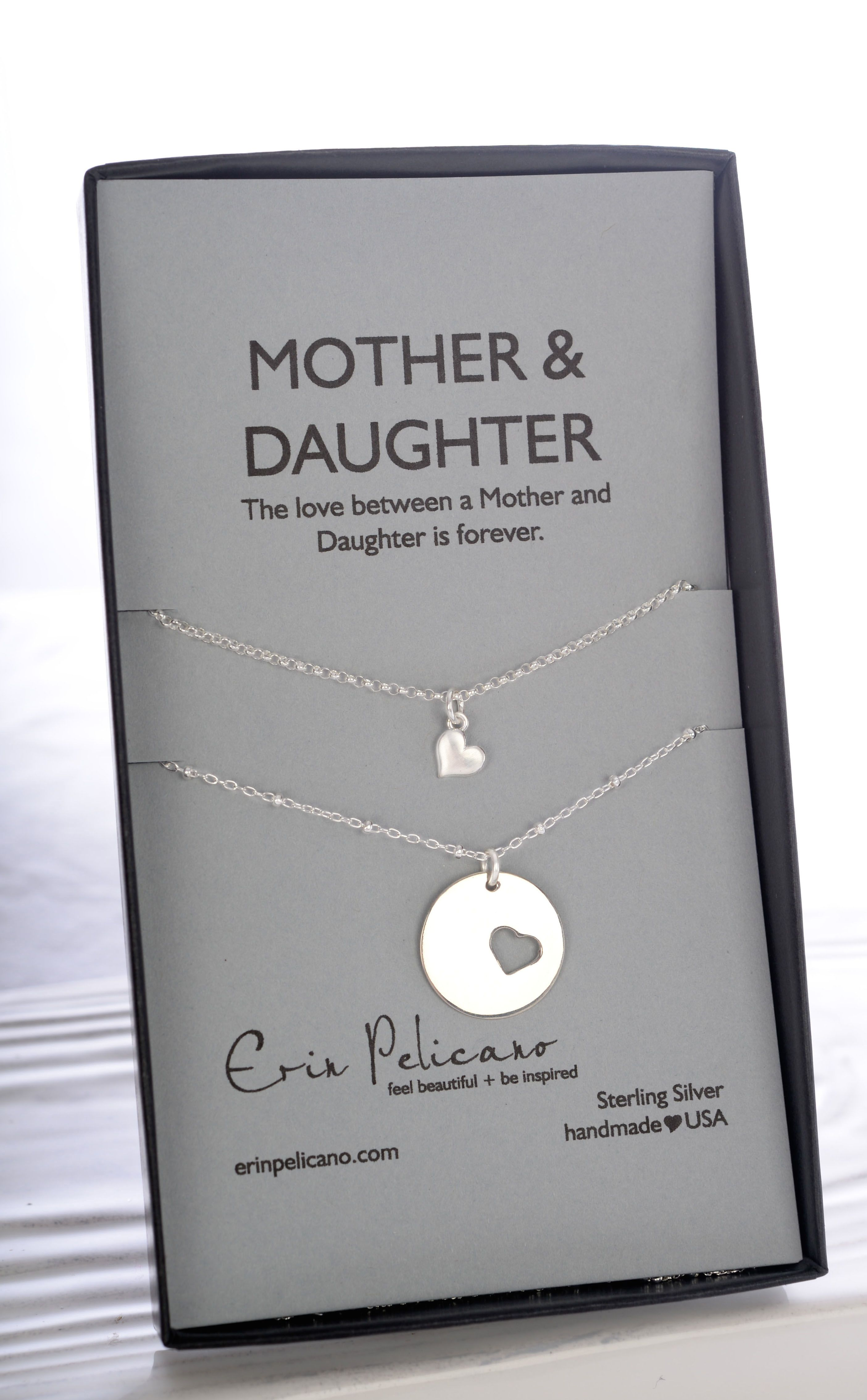 Mothers Day Gifts Mom Daughter Necklace Set A Clic Gift For Love Of Mother Crafted In Sterling Silver And Gold
