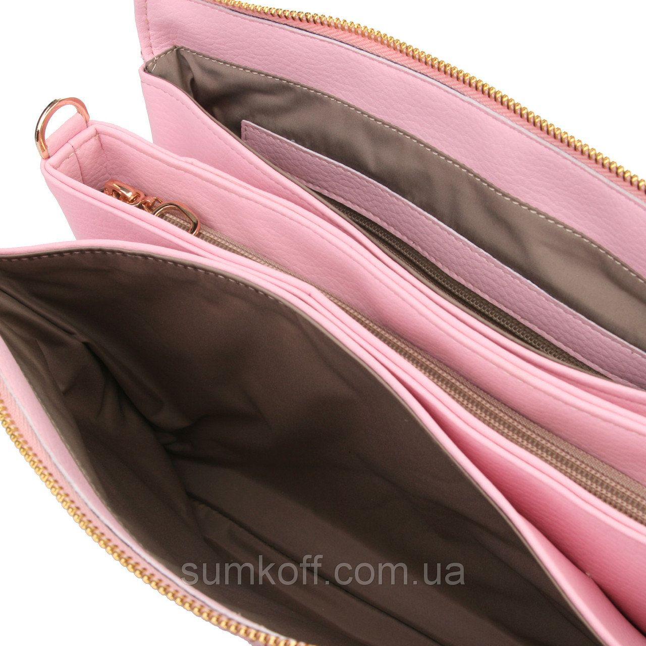 Розовая сумочка-клатч имитация кожи змеи  продажа, цена в Днепре. женские  сумочки 40b0512b193