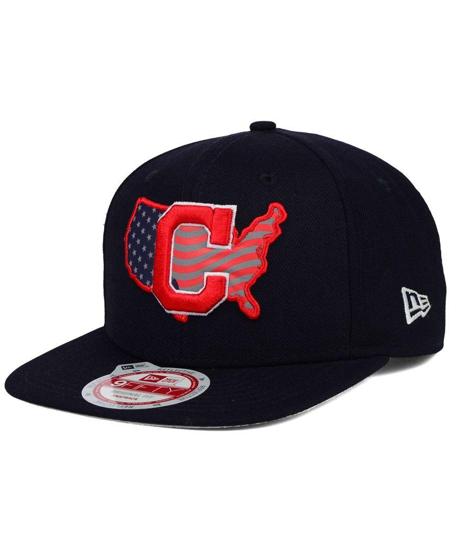c0f70fa8c72 New Era Cleveland Indians Usa Reflective 9FIFTY Snapback Cap