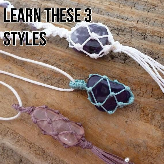 TUTORIAL Macrame Stone Bag / Macrame Net Bag Tutorial / Knotty Knotty Macrame