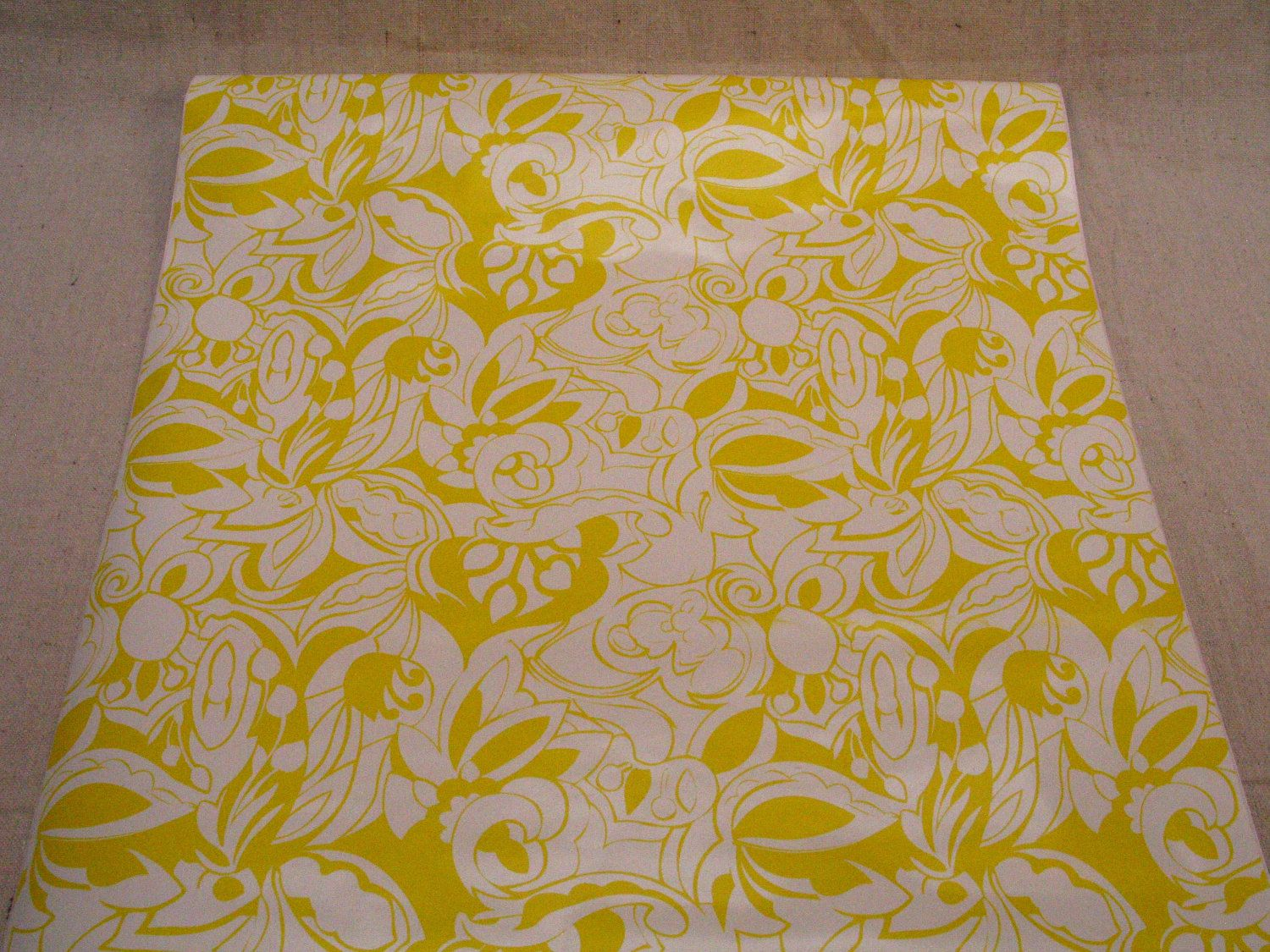 Shelf contact paper Bright Neon Yellow Floral Pattern Contact ...
