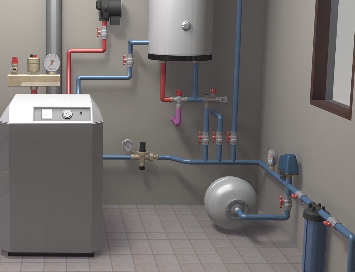 Modelling And Rendering A Set Up For Watts In House Heating System