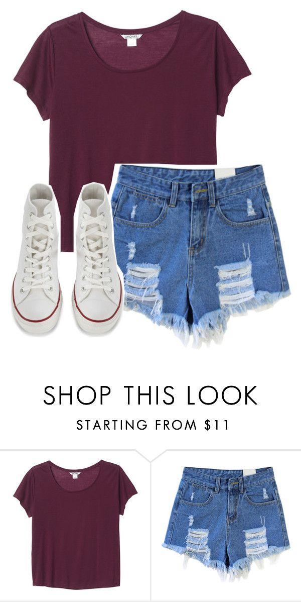 """""""everything's a mess when you're away"""" by fatunicorn1 ❤ liked on Polyvore featuring Monki and Converse"""