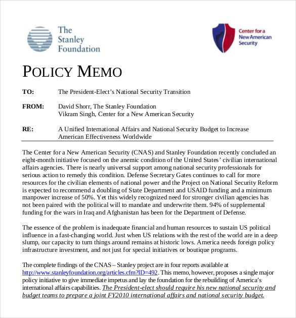 Policy Memo Example Check More At Https Cleverhippo Org Policy Memo Example