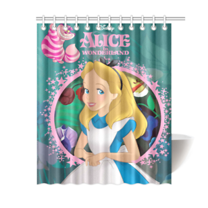 Alice In Wonderland Bathroom Waterproof Shower Curtain Is Waterproof Polyester Fabric Shower Curtain Images Imprinted Using Heat Dye Shower Curtain In 2019