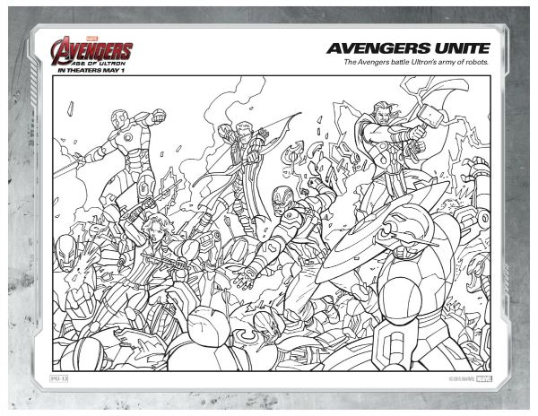 free printable marvel avengers unite coloring page