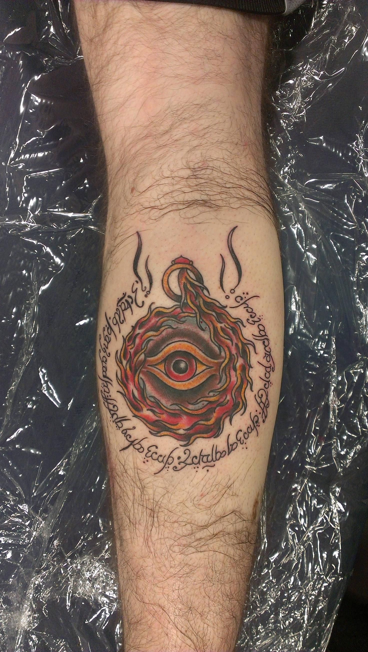 30 Eye Of Sauron Tattoo Designs For Men – Lord Of The Rings Ideas