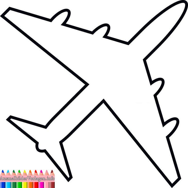 Flugzeug Vorlage Ausschneiden Vorlagen Malvorlagen Wenn Du Mal Buch