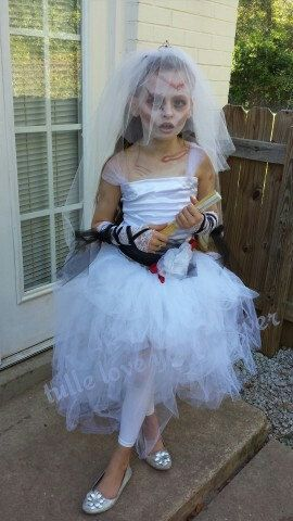 Zombie Bride Tutu Skirt Or Dress By Tulleloveyouforever On Etsy