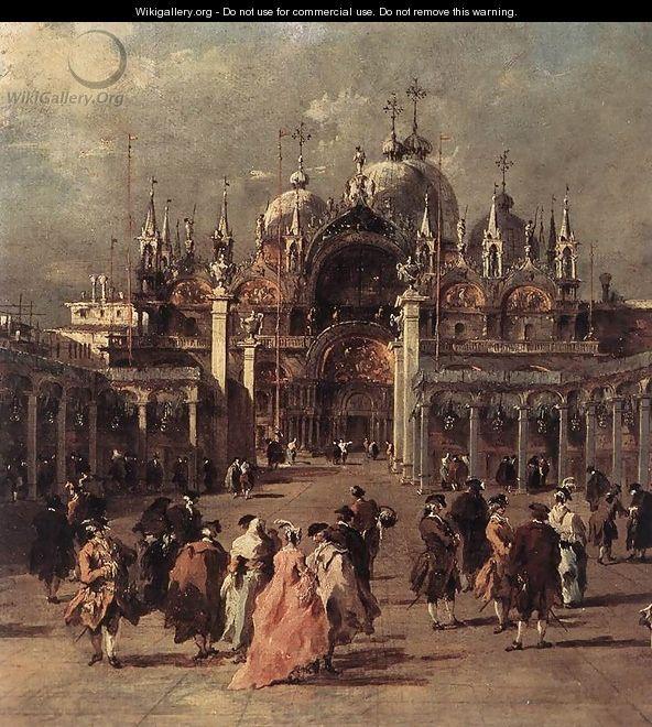 Piazza di San Marco (detail) 1777 - Francesco Guardi