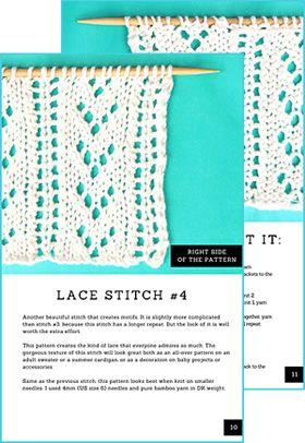 12 Lace Stitches Free Pdf Download Loom Knit Crochet