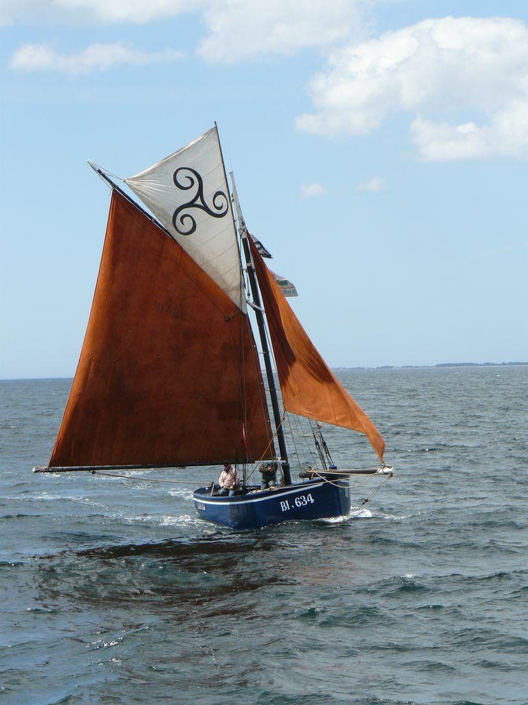 Vieux Greement Breton Entrant Dans Le Golfe Du Morbihan Par Vent