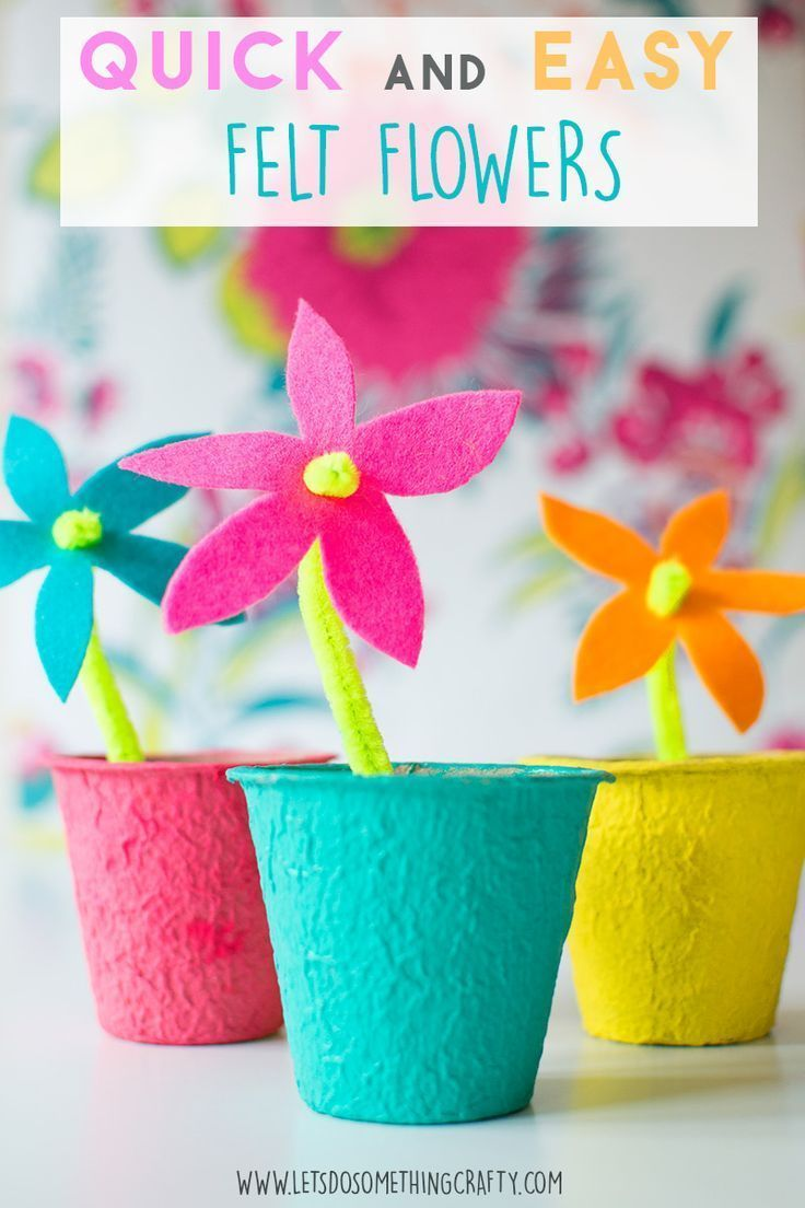 The Easiest Felt Flowers Perfect Craft For Kids Ornaments