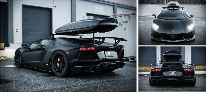 Roof Rack Lamborghini >> Black Matte Project700 Wintermode Complete Lamborghini Aventador