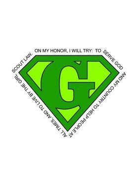 girl scout superhero green logo download girl scouts pinterest