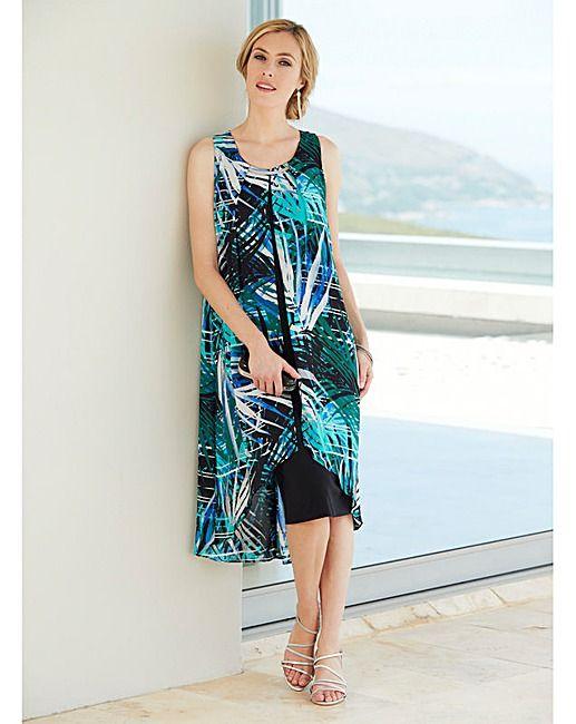 e9af9e3630b8 Nightingales Overlay Print Dress