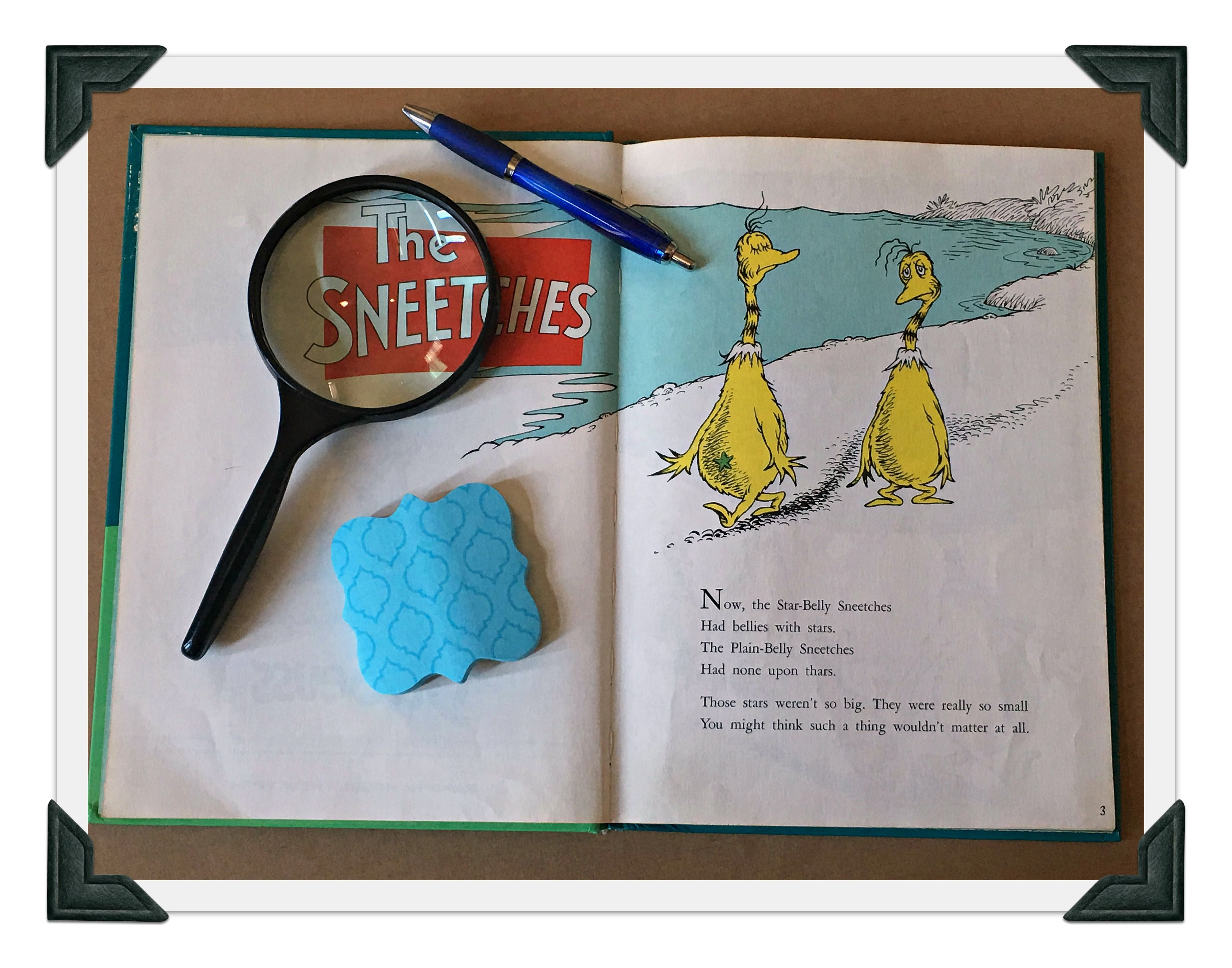 Close Reading Using The Dr Seuss Book The Sneetches