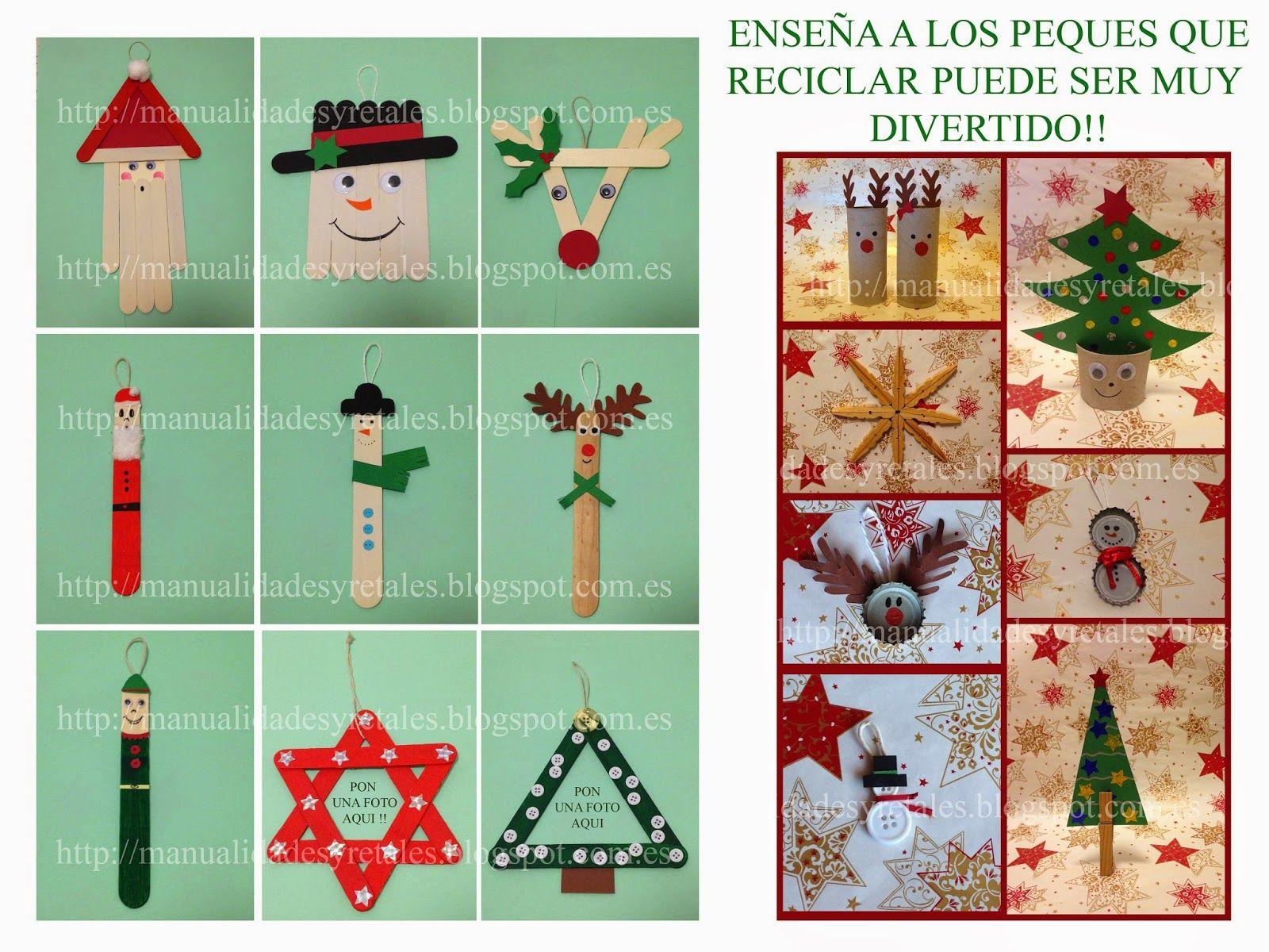 Adornos navidad ni os aprende a hacer esta manualidad - Manualidad ninos navidad ...