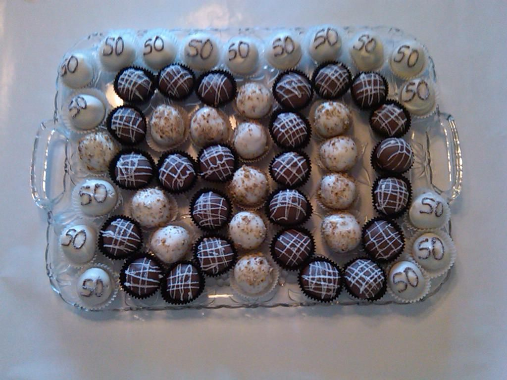 Wondrous Cakeballs For A 50Th Birthday Party Moms 50Th Birthday 50Th Funny Birthday Cards Online Inifodamsfinfo