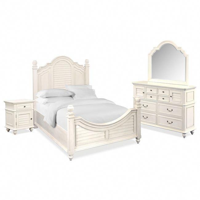 Bedroom Furniture - Charleston 6-Piece Queen Poster Bedroom Set