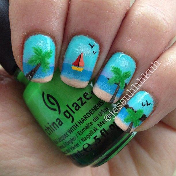 beach #nail #nails #nailart | Nails design | Pinterest | Femenino y ...