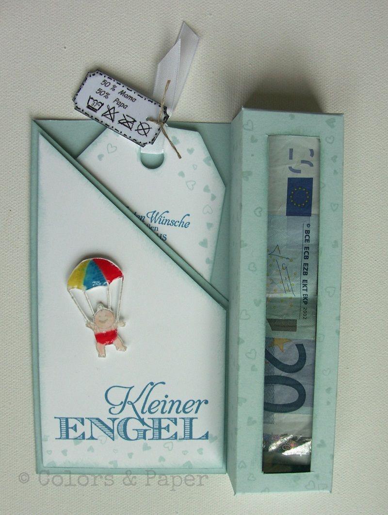 stampin 39 up das sch nste geschenk babykarte mit geldfach colors paper karten. Black Bedroom Furniture Sets. Home Design Ideas