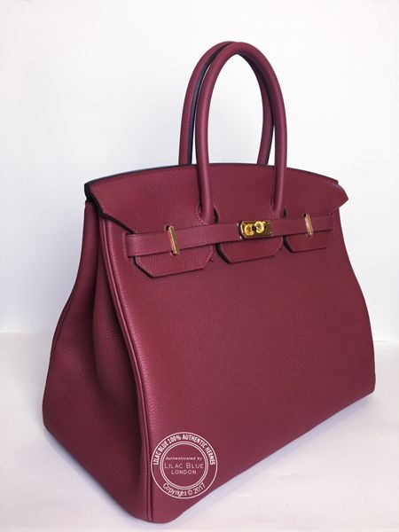 218a403a15 35cm Rouge Grenat Birkin in Togo Leather with Gold Hardware