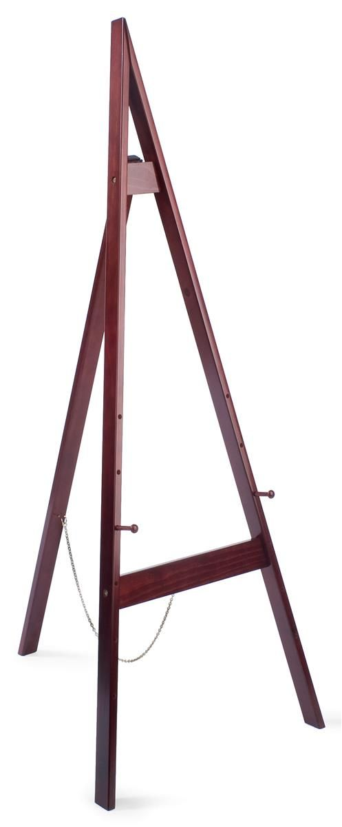 Wood Easel For Floor With Height Adjustable Display Pegs Cherry Wood Easel Diy Easel Floor Easel