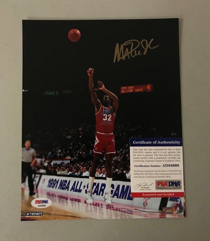 1aea7f8f4c3 Magic Johnson Signed 8x10 All Star Game Photo Autographed AUTO PSA DNA COA  HOF  Basketball