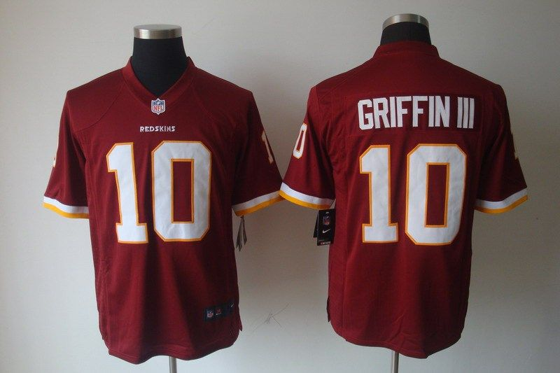 NFL Washington Redskins GRIFFIN III #10 Men's NIKE Elite Jerseys Red