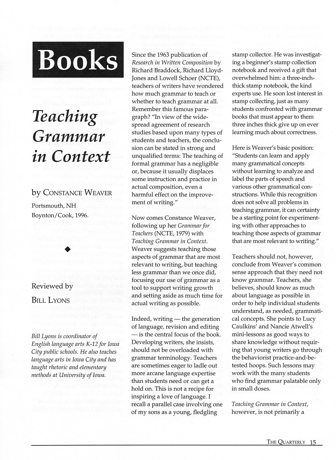 teaching grammar in context blog