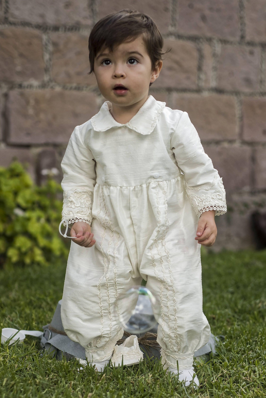 Vintage baptismal gown for boys Model B008 | Detachable skirt and ...