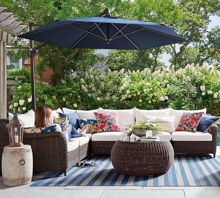 Outdoor Furniture Labor Day Sales: Pottery Barn Sectional Wedge-Corner & Cushion