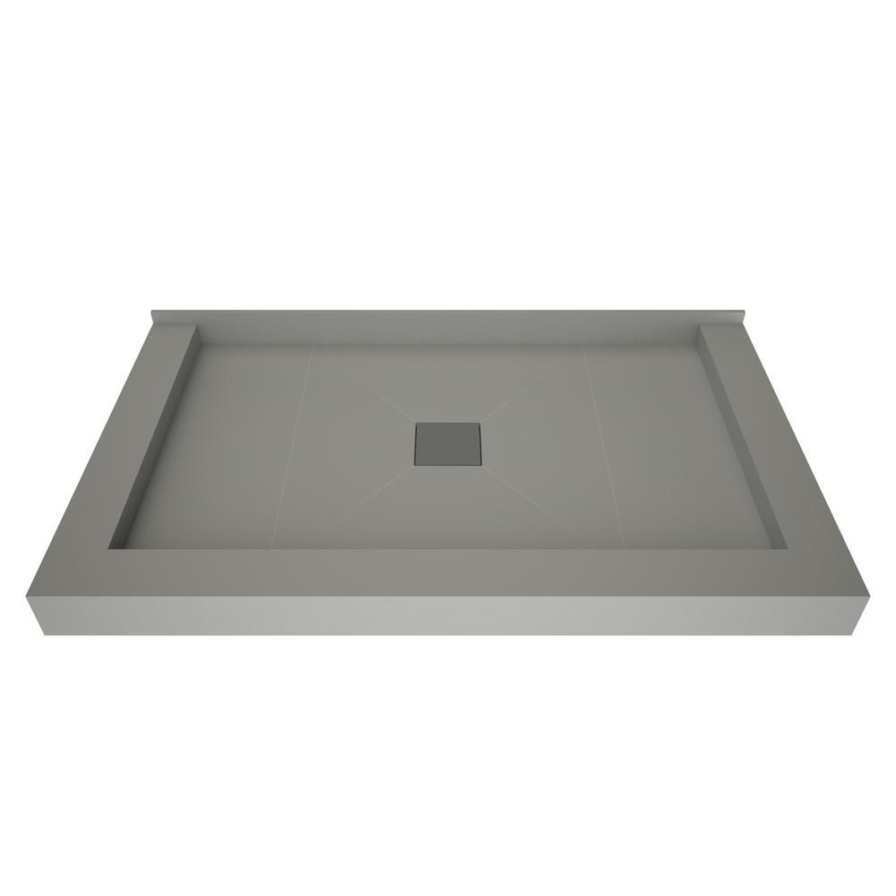 Tile Redi 34 In X 60 In Triple Threshold Shower Base With Center