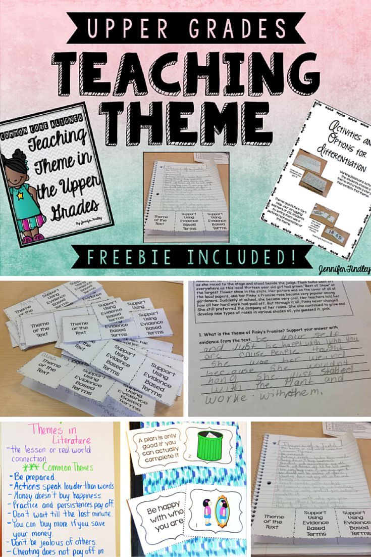 This post is all about teaching theme in the upper grades using task cards, anchor charts, centers, and passages. A freebie is included!