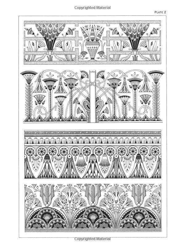 egyptian motifs in the art deco style (dover pictorial archive