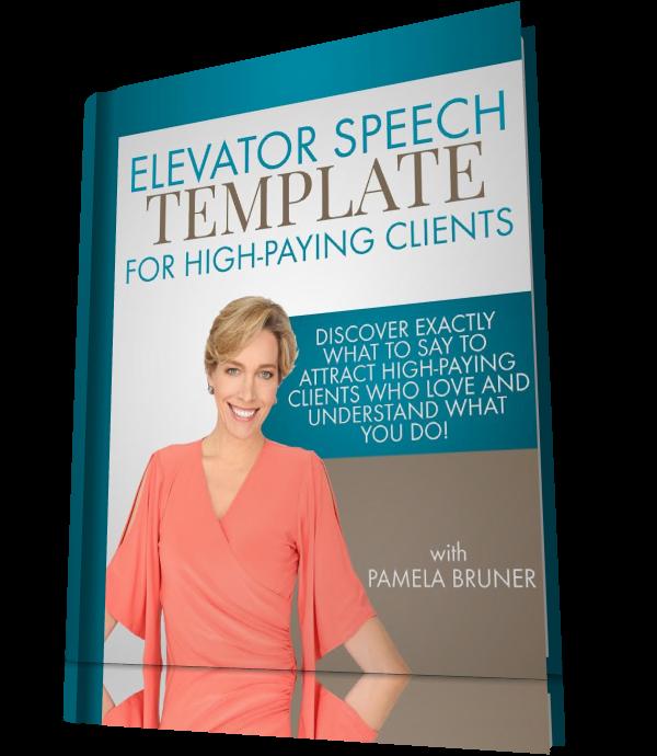 Elevator Speech Template  Work At Home    Template