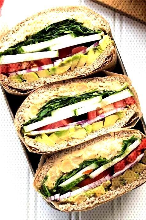 19 Easy Lunches With No Meat Or Dairy - Comidas, receitas e guloseimas de viagem -