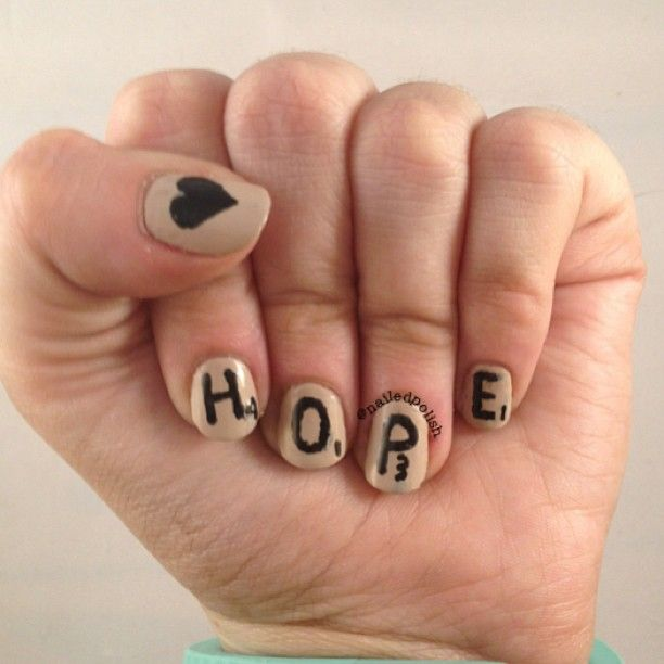 We love the idea of inspiration on your nails every day. @nailedpolish makes us hopeful!