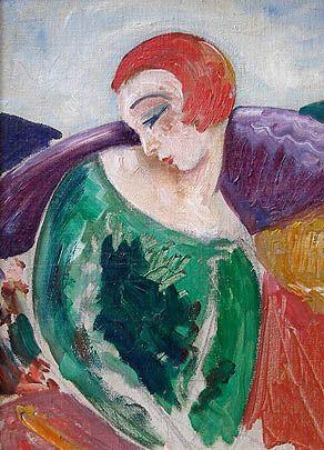 Einar Wegener/Lili Elbe, Portrait de Femme, 1923