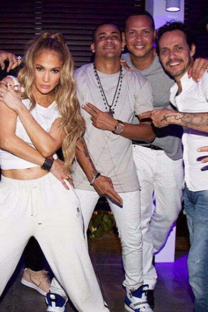 d8602e2987b Friendly Exes Indeed! J Lo and A Rod Party With Her Ex Marc Anthony ...