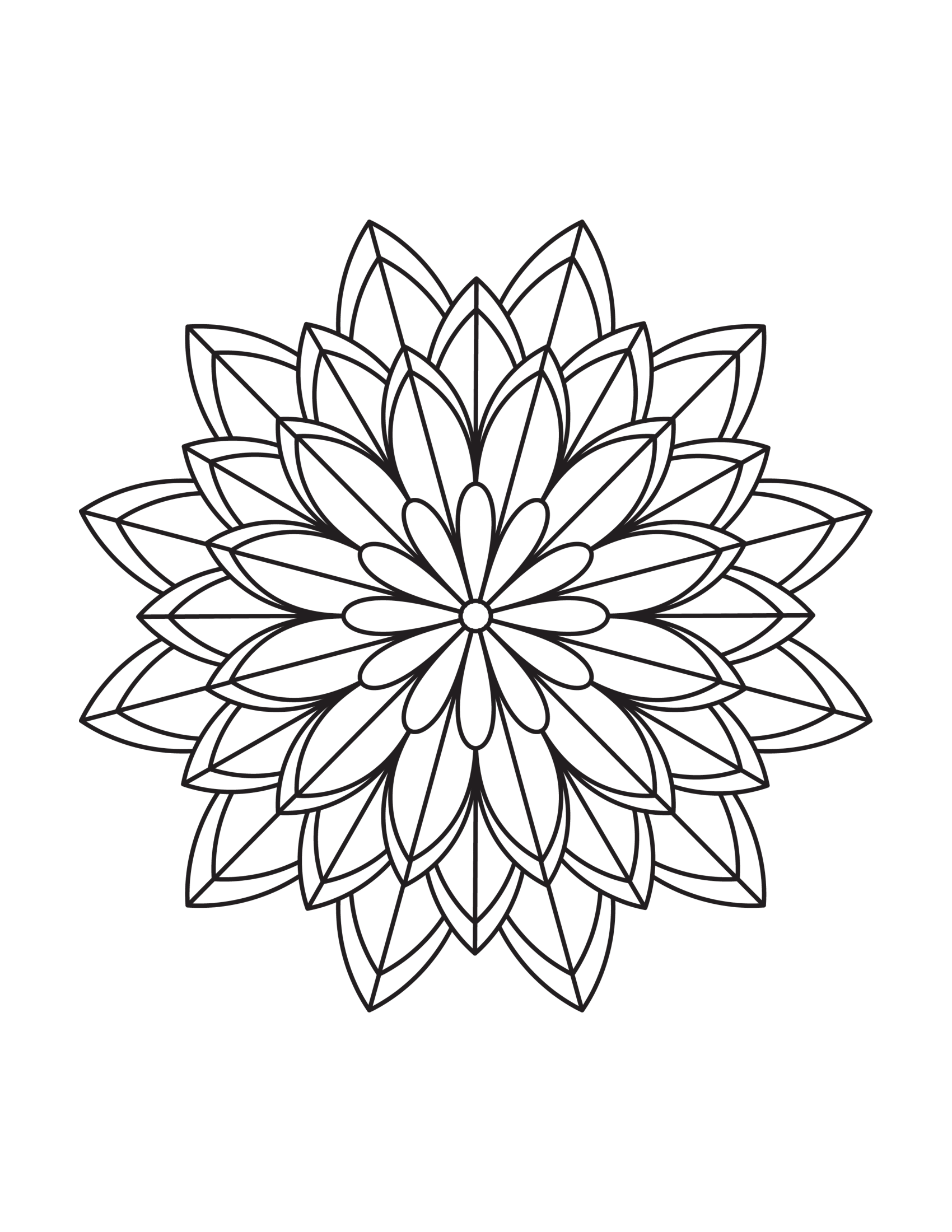 Simple Flower Mandala Coloring Pages Free Printables Mandala Coloring Flower Mandala Mandala Coloring Pages