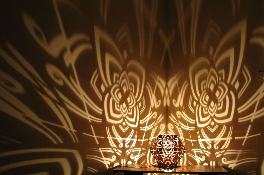 Laser-Cut Shadow Lamps Shine by Design - http://freshome.com/laser ...